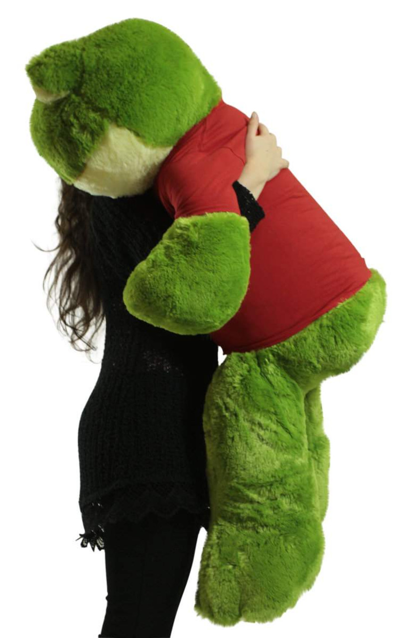 Giant Stuffed Frog 48 Inch Soft 4 Foot Big Plush Wears Official