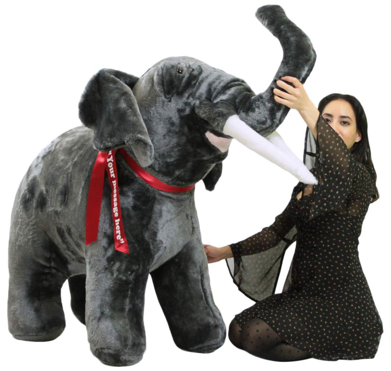 Personalized Giant Stuffed Elephant 48 Inch Soft American Made Big
