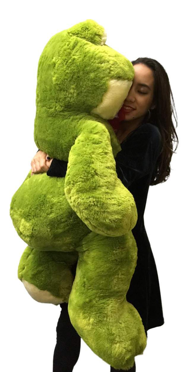 Giant Stuffed Frog 48 Inches Soft Green Color 4 Foot Big Plush