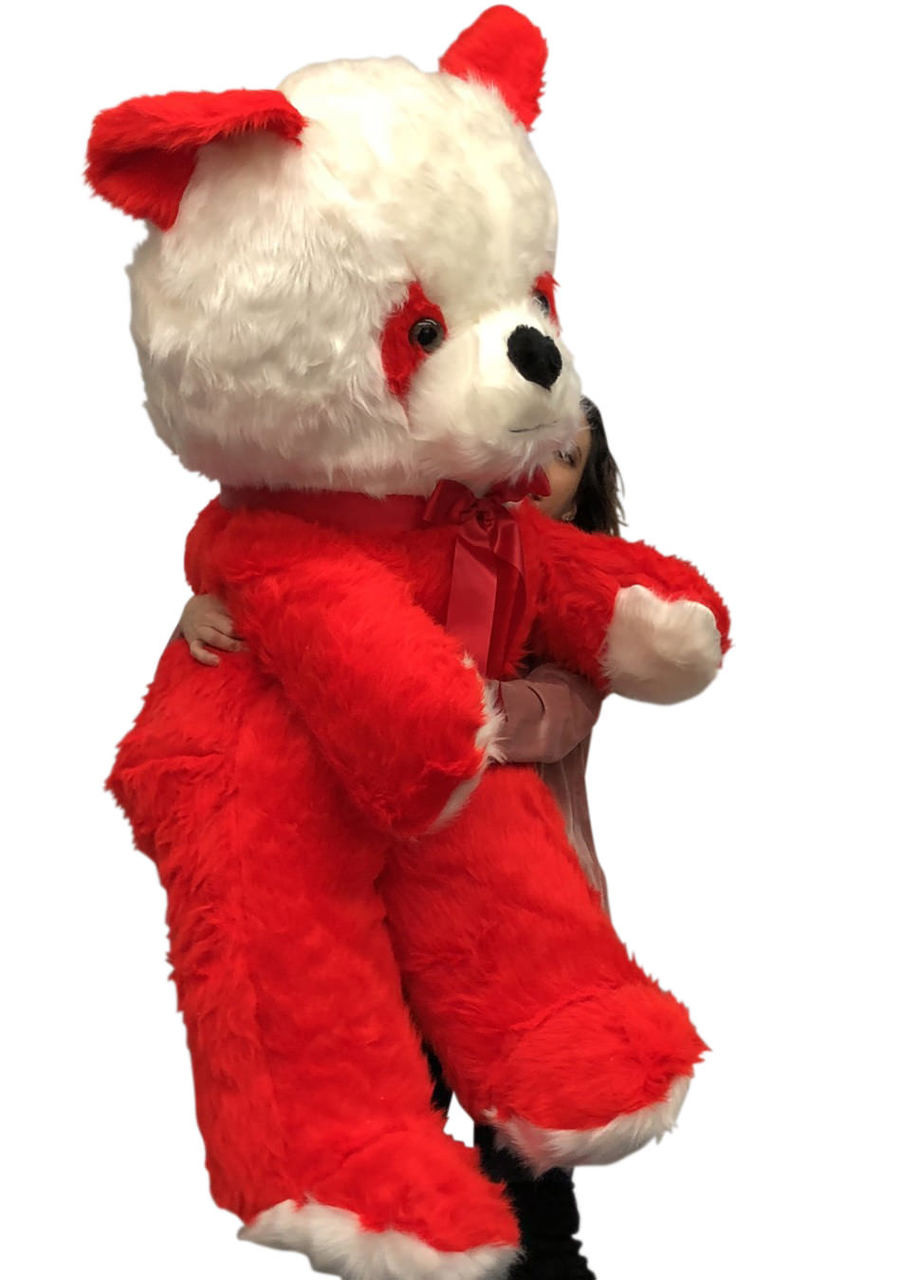 Big Plush Red And White Stuffed Panda Bear Giant 6 Foot Teddy Bear
