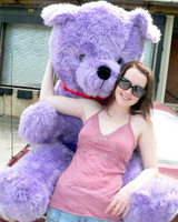 Purple Color Big Stuffed Animals