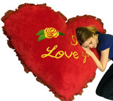 Big Stuffed Heart Pillows