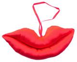 Red Satin Plush Puckered Lips