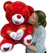 Red Color Big Stuffed Animals