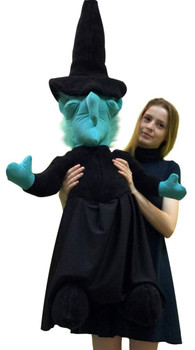 Giant stuffed witch