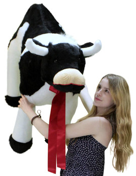 American Made Giant Stuffed Cow 42 Inch Big Plush Farm Animal Soft Made in USA America