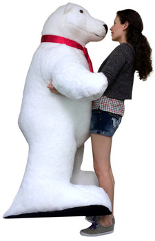Giant Stuffed Polar Bear 5 Feet Tall Huge Stuffed Animal Made in USA America