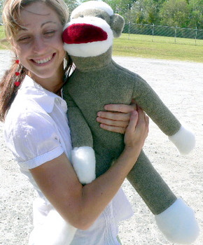 American Made Big Plush Sock Monkey 28 Inches Stuffed Animal Made in USA