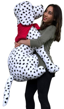 American Made Giant Stuffed Dalmatian 36 Inch Soft Big Plush Fire Dog
