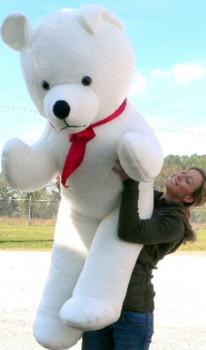American Made Giant White Teddy Bear 6 Feet Tall Soft Plush Huge Stuffed Animal Made in the USA America