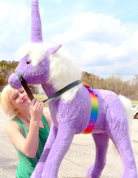 American Made Giant Stuffed Unicorn 36 Inch Soft Purple Made in USA America