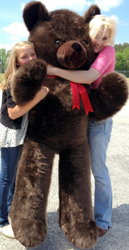 6 foot brown teddy bear