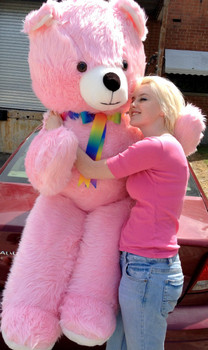 6ft pink teddy bear