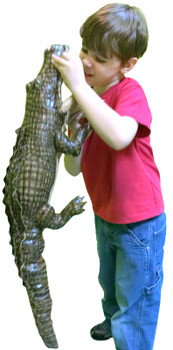 Large Stuffed Alligator 34 inches Long Big Plush Realistic Stuffed Animal High Quality