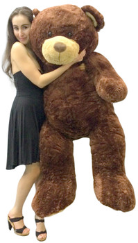 Giant brown teddy bear