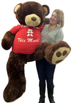 I Love You This Much giant teddy bear