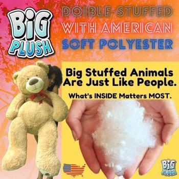 5 Foot Giant Teddy Bear Huge Soft Tan with Bigfoot Paws Giant Stuffed Animal 60 Inch