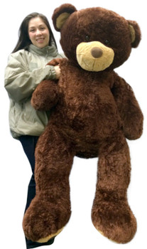 Giant 5 Foot Teddy Bear 60 Inch Soft Brown Oversized Big Plush Teddybear