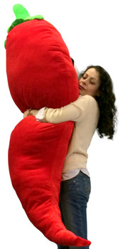 Big Plush Stuffed Red Pepper 66 Inch Soft Giant Fruit Vegetable Huge Fun Plushie