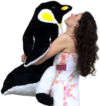 American Made Giant Stuffed Penguin 30 Inches 76 cm Big Soft Stuffed Animal Made in USA America