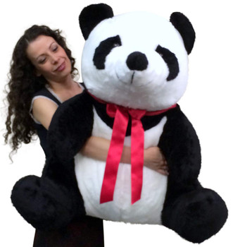 American Made Giant Stuffed Panda 32 Inch Huge Soft Plush Bear Made in USA America