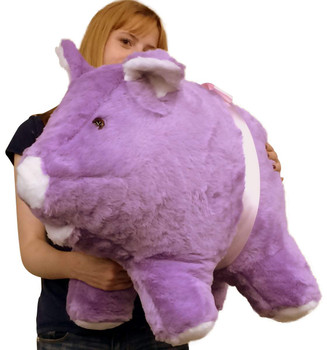 Big Plush Brand extra large stuffed purple pig made in the USA
