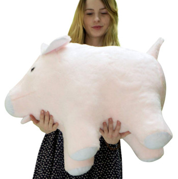 Big Plush brand large stuffed pink pig 27 inches long made in the USA.
