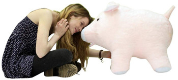 American Made Giant Stuffed Pink Pig Jumbo 27 inches 69 cm Soft Made in the USA