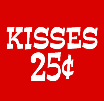 It's FREE to ADD this T-Shirt Design KISSES 25 CENTS and We'll Dress-Up your Stuffed Animal in this T-Shirt