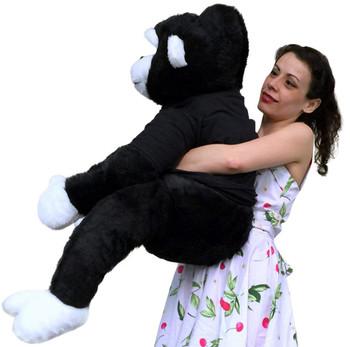 Happy Graduation Giant Stuffed Gorilla 40 Inch Big Plush Soft Plush Monkey made in USA