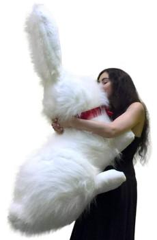 Jumbo Stuffed Bunny white color