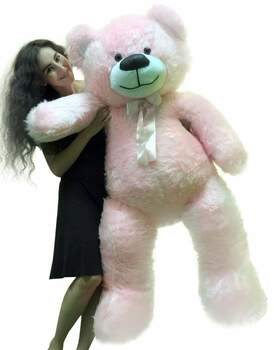 5ft pink teddy bear