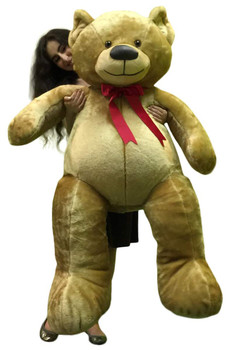 American Made Giant 5 Foot Teddy Bear Brown 60 Inch Soft Made in USA