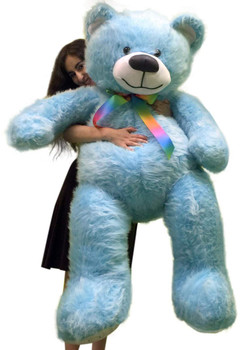 5ft blue teddy bear