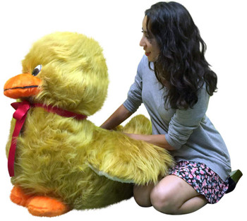 American Made Giant Stuffed Golden Brown Duck Soft 36 inches Huge Plush Animal