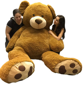 Giant 8 Foot Teddy Bear 96 Inch Soft Big Plush Brown Oversized Teddybear