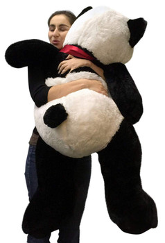 Big Stuffed Panda 48 Inch Soft Large 4 Foot Teddy Bear Big Plush Animal