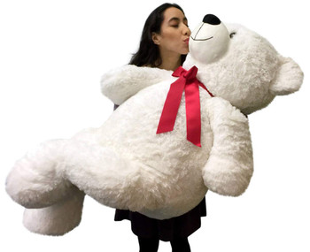 Giant Valentine's Day Teddy Bear 52 Inch White Soft, Premium Quality Big 4 foot  Teddybear