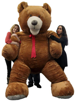 American Made 9 Foot Teddy Bear Huge Soft 108 Inch Giant Teddybear Brown Made in USA