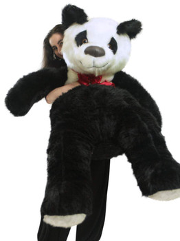 American Made Giant Stuffed Panda Bear 60 Inch Soft 5 Foot Teddybear White Chest