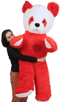 Giant stuffed red panda for Valentine's Day gift is 6 feet tall and is made in the USA