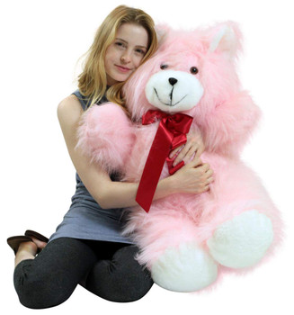 American Made Giant Pink Teddy Bear 36 Inch Soft 3 Foot Teddybear