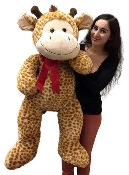 Giant stuffed giraffe measures 4 feet tall
