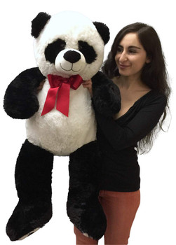 36 inches tall big plush stuffed panda bear