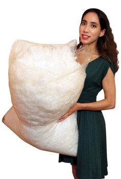 Big Plush 10 Pounds Premium Polyester Fiber Fill White Fiberfill Stuffing, Moderately Dense and Heavy Blend of American Poly Filling Made in the USA