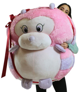 Big Plush Caterpillar Smush Ball, Jumbo Size 3 Feet Tall, 30 Inch Wide, Weighs 10 Pounds