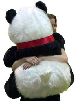 Big Plush Giant Stuffed Panda 34 Inch Soft Bear, Made in USA America