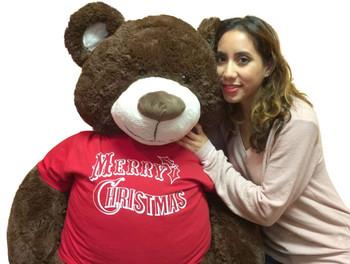 Merry Christmas giant teddy bear