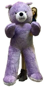 American Made 6 Foot Giant Light Purple Teddy Bear Soft 72 Inch Life Sized Stuffed Animal
