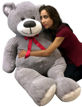 5 Foot Gray Teddy Bear